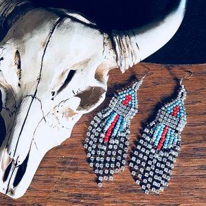 Beautiful awesome handmade beaded dangle earrings